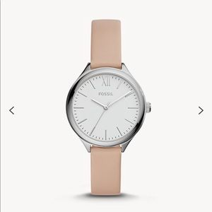 Fossil Suitor Three-Hand Pink Leather Watch